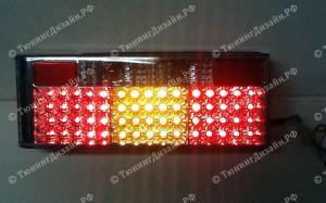 """Задние фонари """"BP"""" (диодные, хром) для ВАЗ 2108, 2109, 2099 и 2113, 2114"""