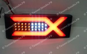 """Задние фонари """"BP"""" (диодные) для ВАЗ 2108, 2109, 2099 и 2113, 2114"""