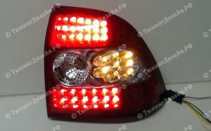 """Задние фонари """"BP"""" (диодные, красные/белые) для Лады Приора (ВАЗ 2170, 2172)"""