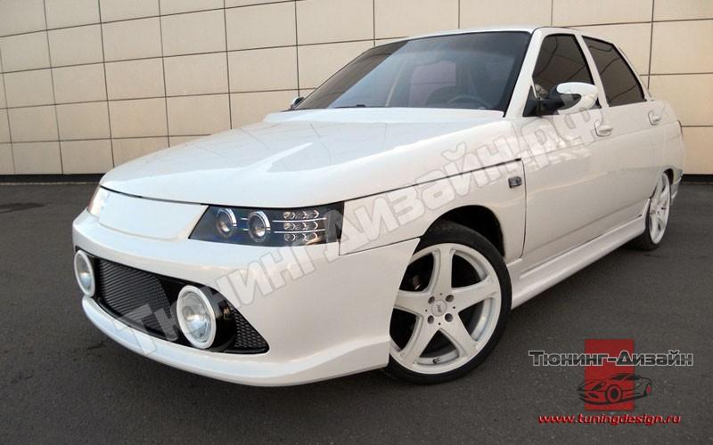 "Бампер передний ""Fanat RS (Фанат RS)"" тюнинг для ВАЗ 2110, 2111, 2112 - Бамперы передние - ВАЗ 2110 (седан) - Лада - Аэродинамич"